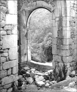 A ruined window in Oppede-le-Vieux